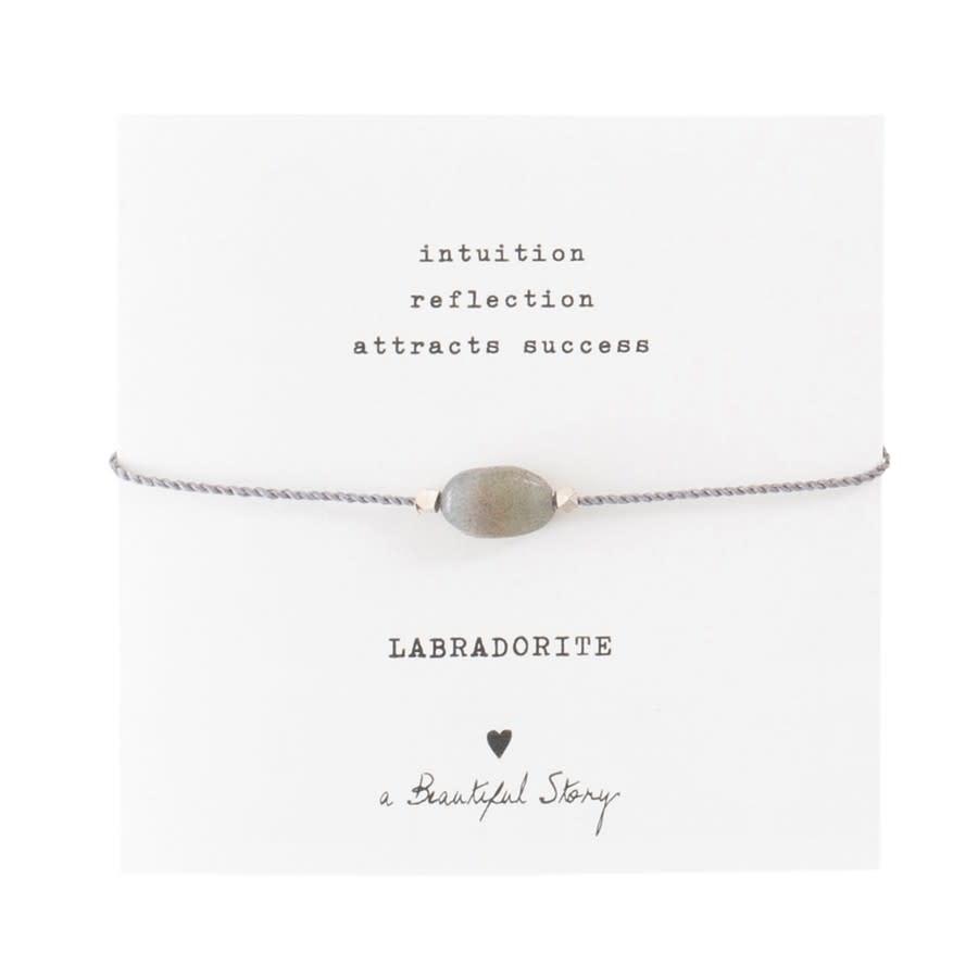Armband Gemstone Card Labradorite Silver Grey-1