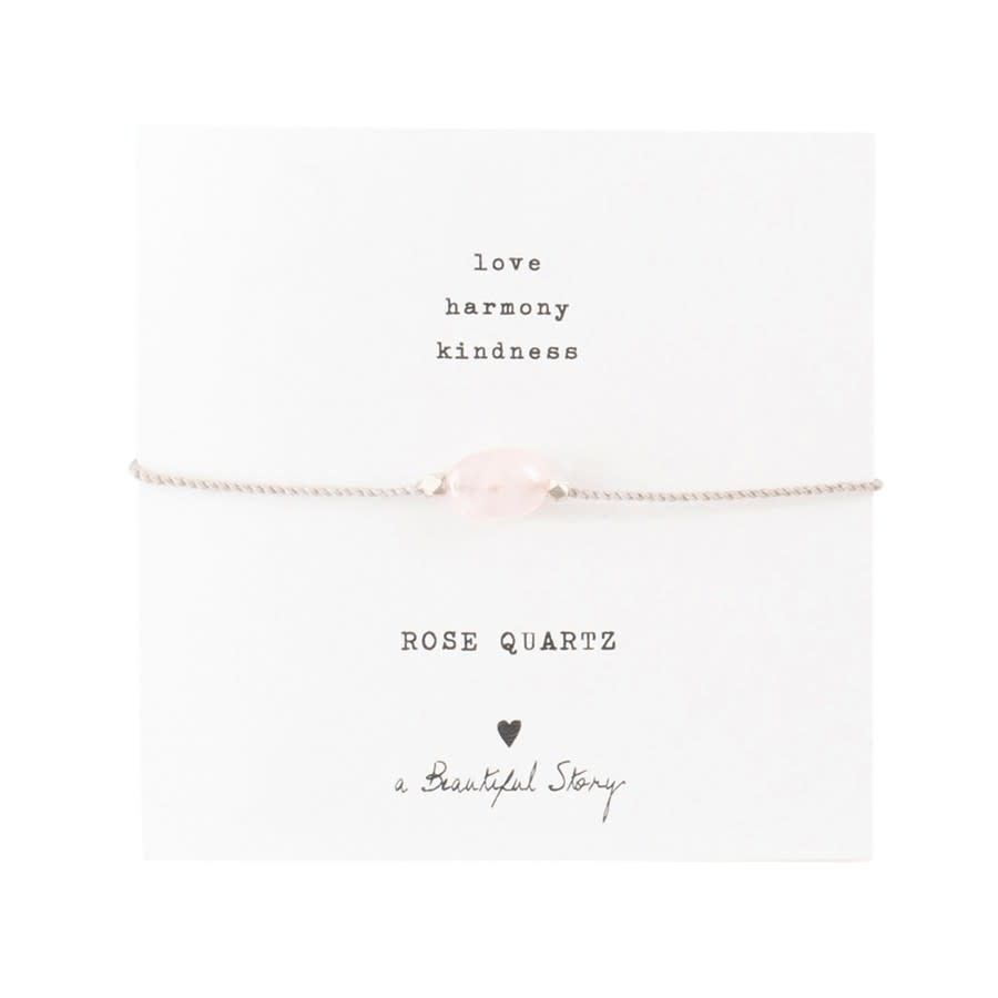 Armband Gemstone Card Quartz Silver Rose-1