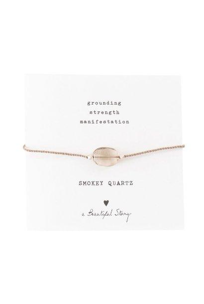 Armband Gemstone Card Smokey Quartz Silver