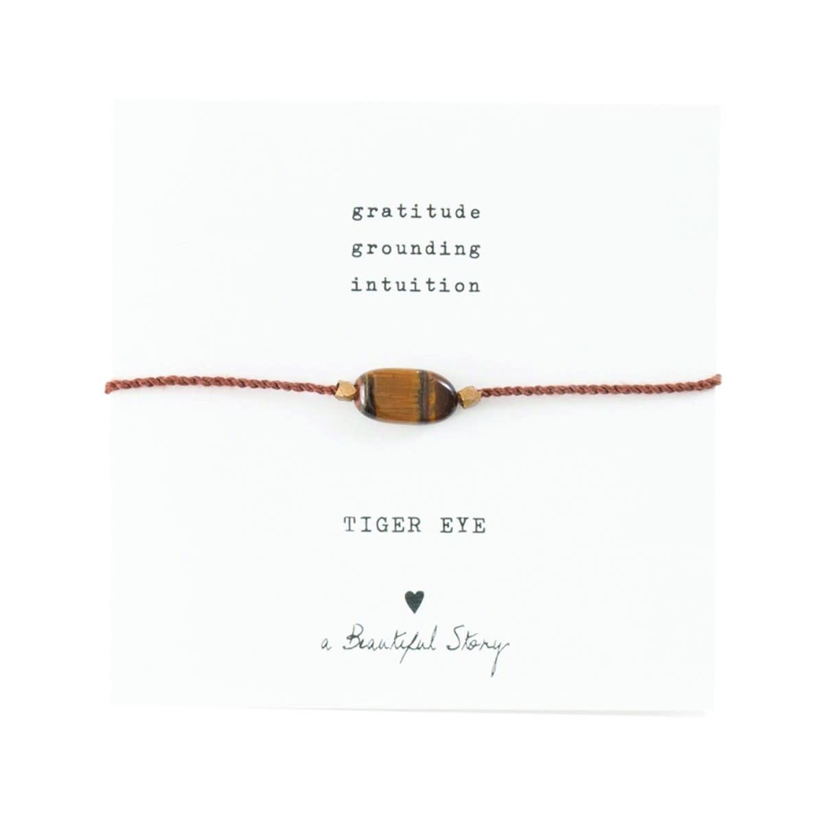 Armband Gemstone Card Tiger Eye Gold Brown-1
