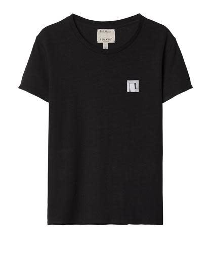 T-shirt No3 Linen Tee black Emilly Marant-1