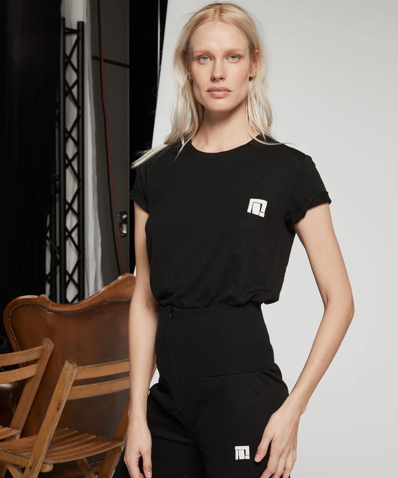 T-shirt No3 Linen Tee black Emilly Marant-2