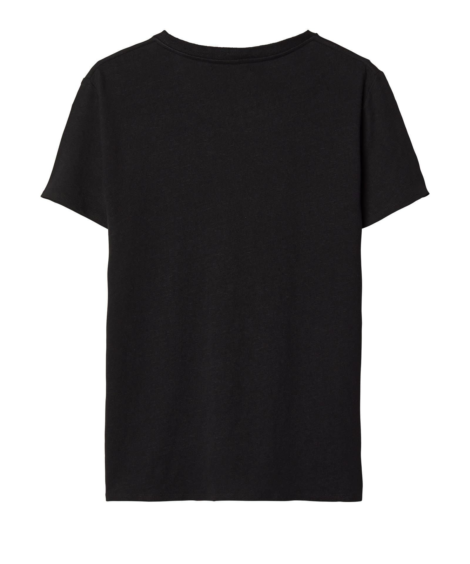 T-shirt No3 Linen Tee black Emilly Marant-3