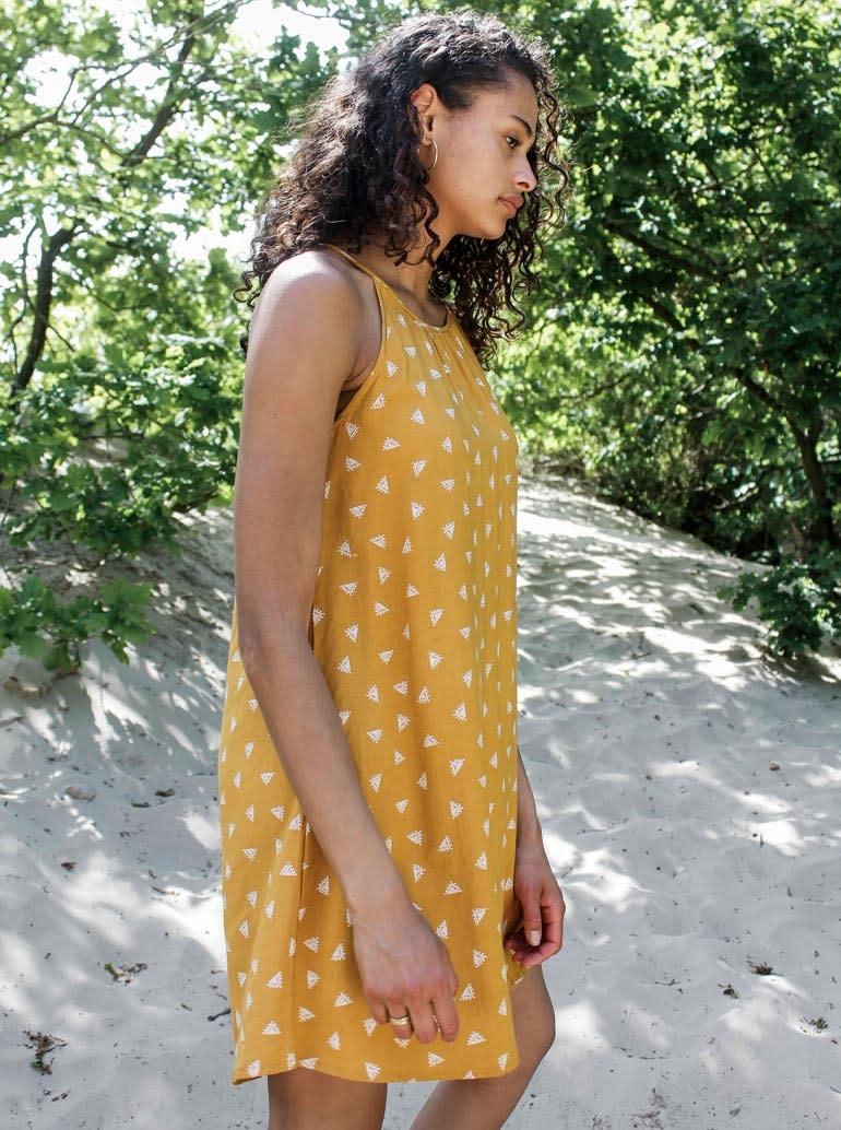 Jurk Chloe halter yellow-2