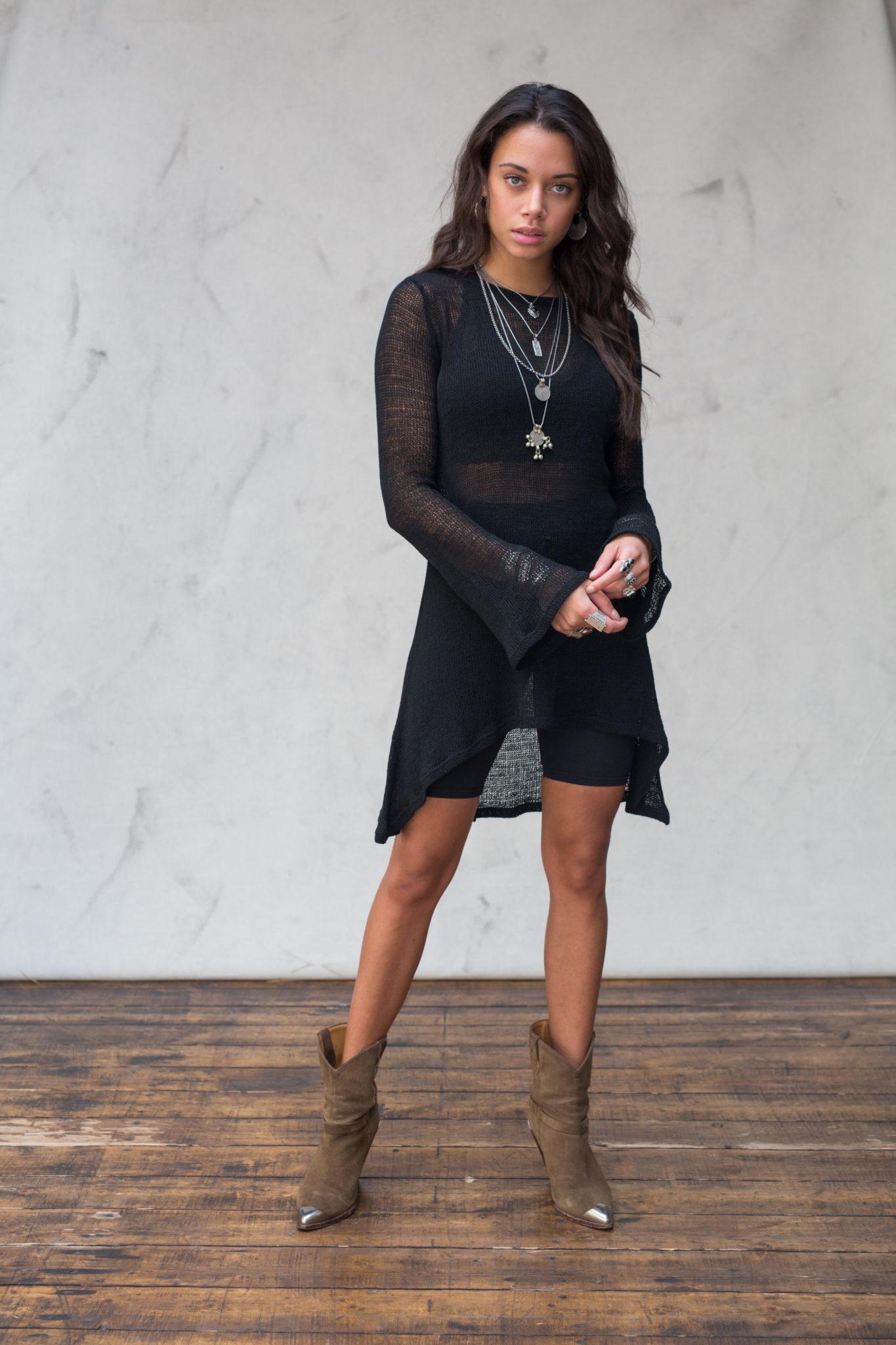Jurk Amina Knitted Black-1