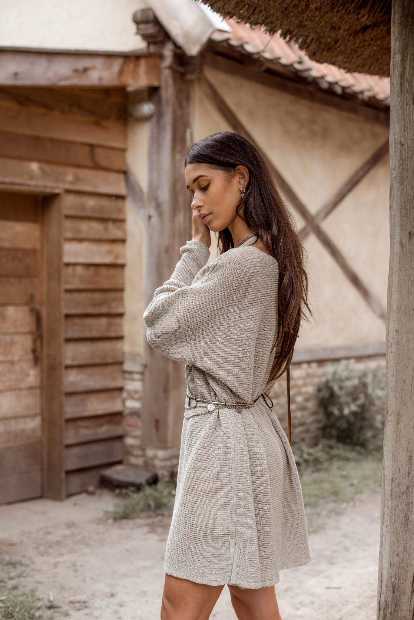 Jurk Nola Knitted beige-2