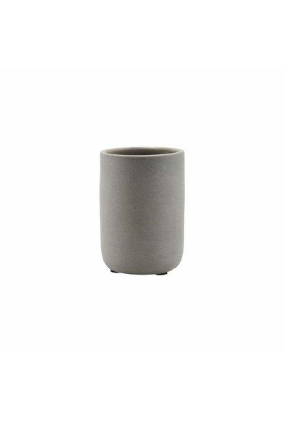 Pot High mug matte grey bathroom