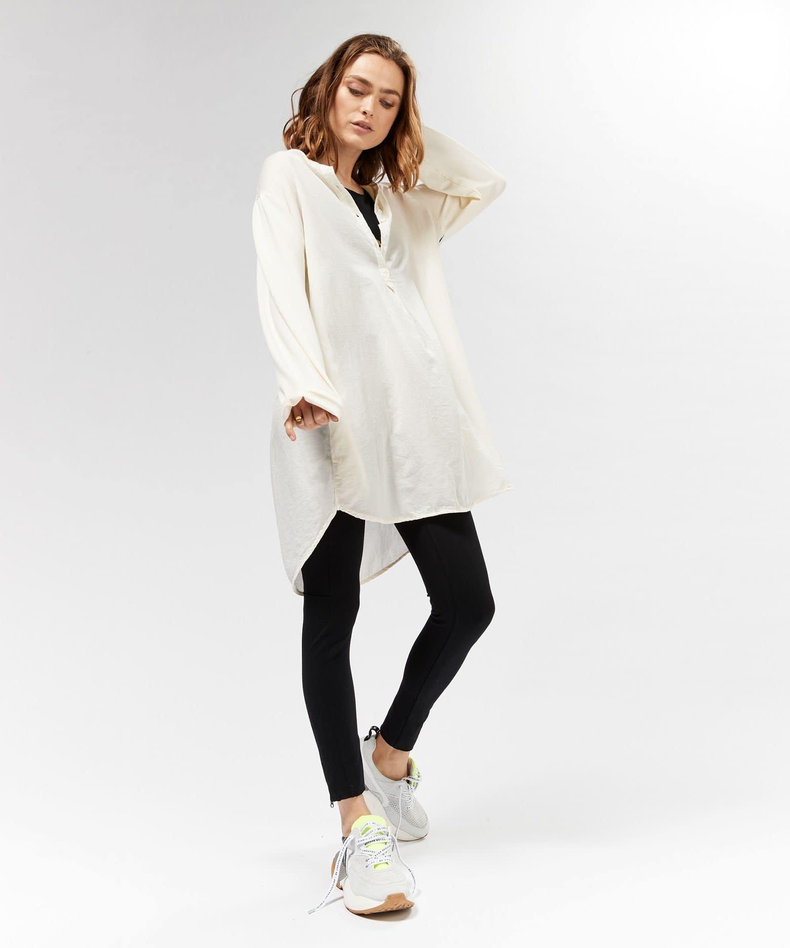Blouse tunic silk white-2