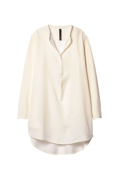 Blouse tunic silk white