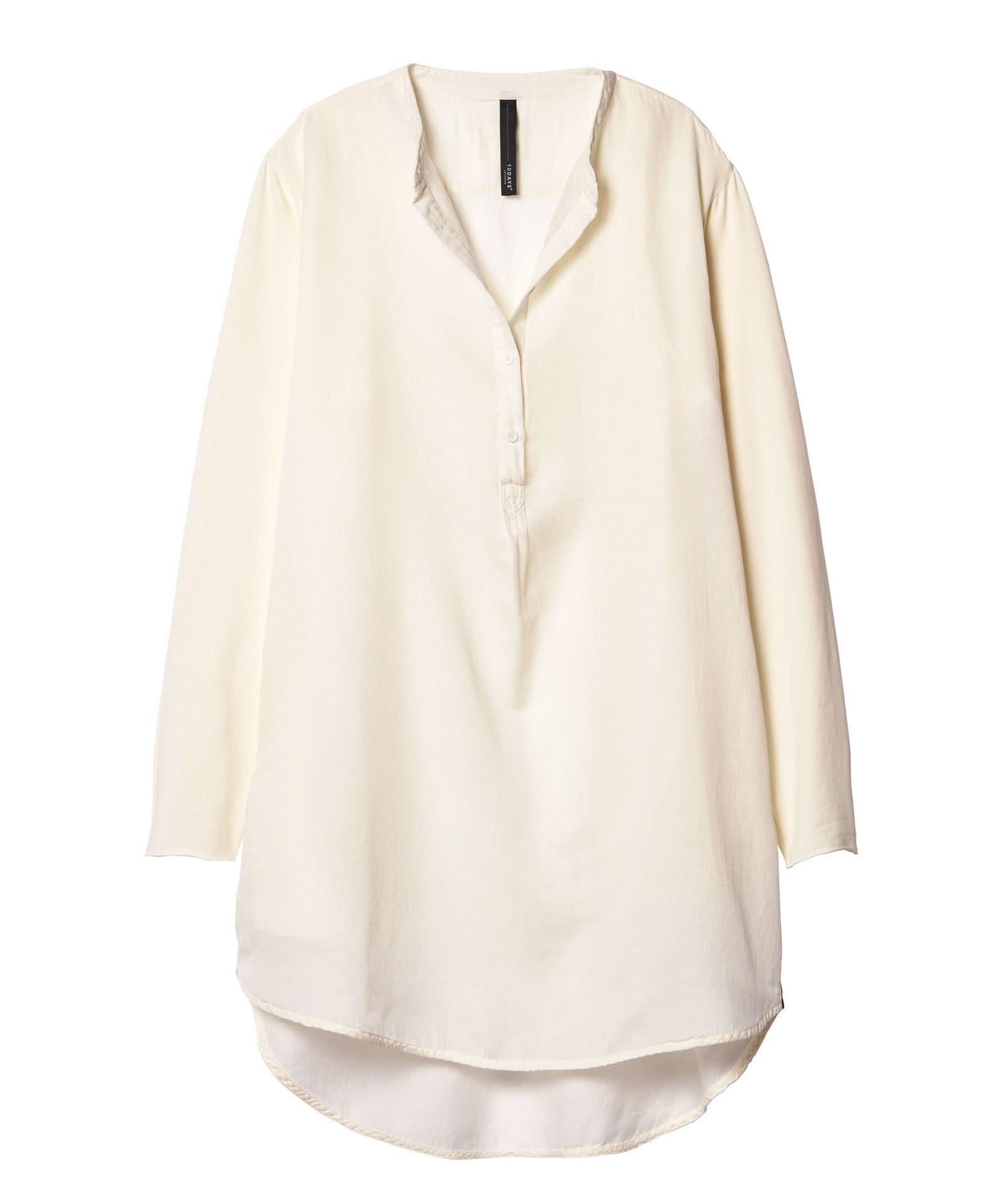 Blouse tunic silk white-1