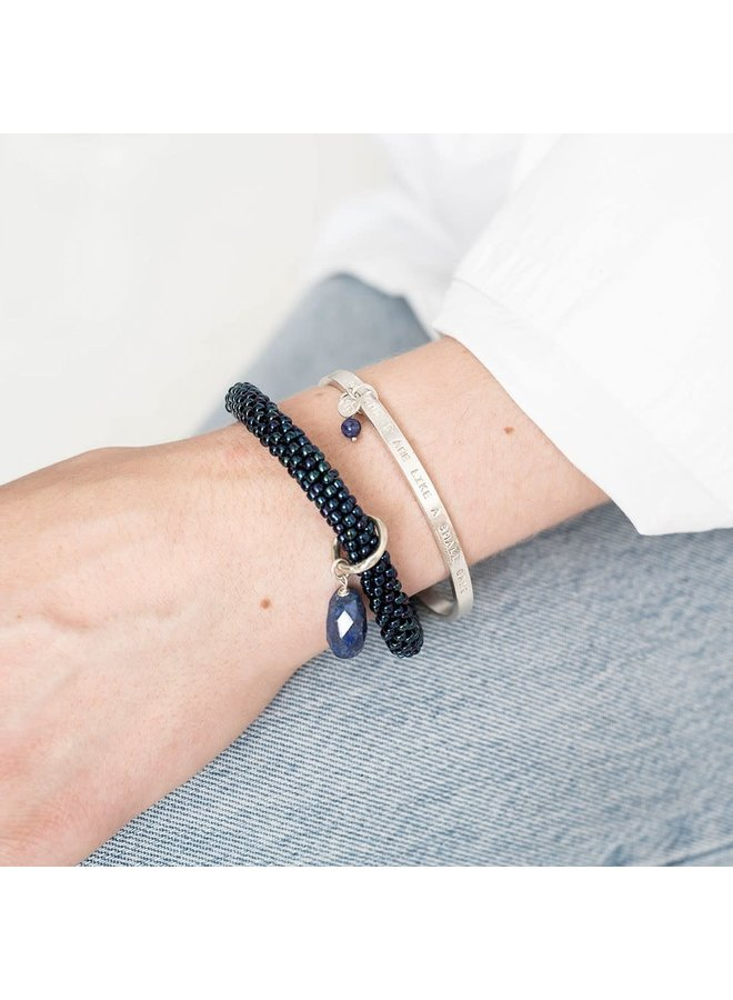 Armband Pure Lapis Lazuli Silver