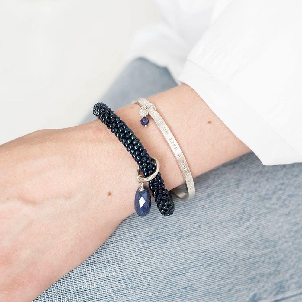 Armband Pure Lapis Lazuli Silver-2