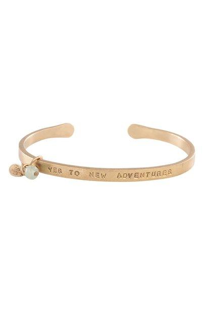Armband Pure Aventurine Gold