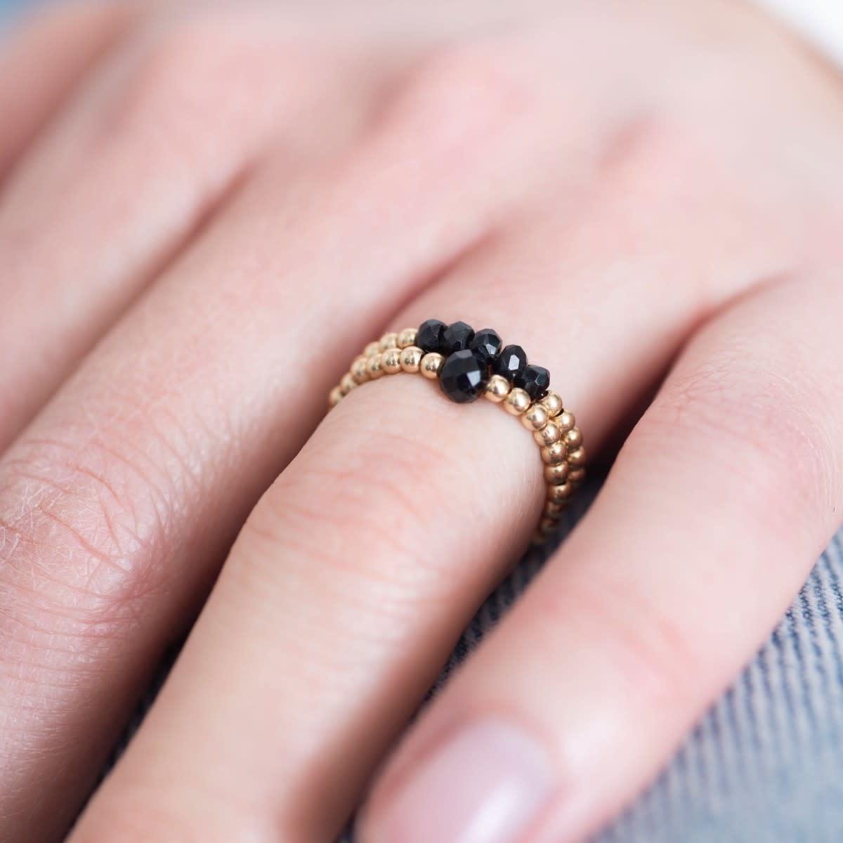 Ring Beauty onyx S/M Gold Black-2