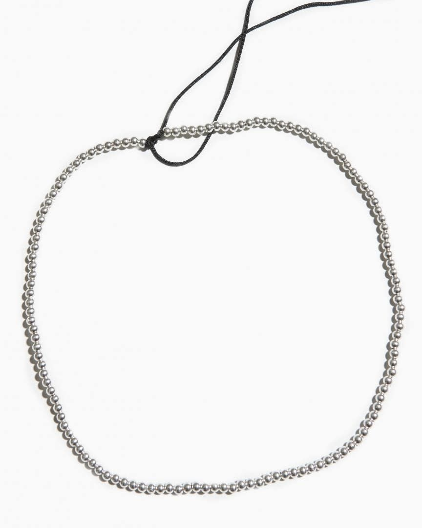 Ketting Mini Bead String Sterling Silver-1
