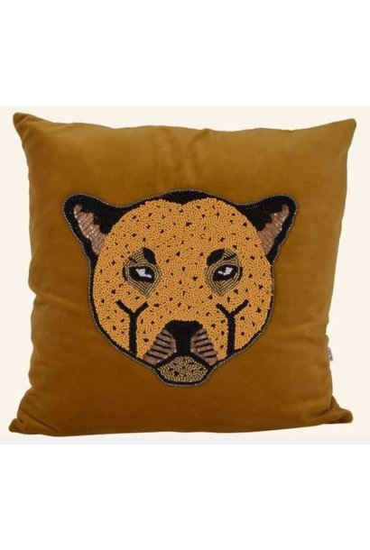 Kussen Velvet leopard