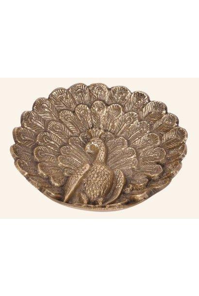 Schaal Peacock bowl brass