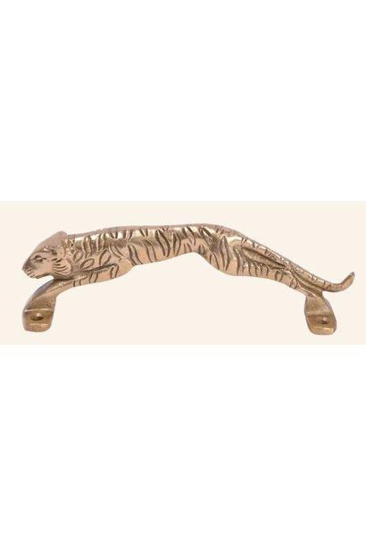 Deurgreep Leopard  brass