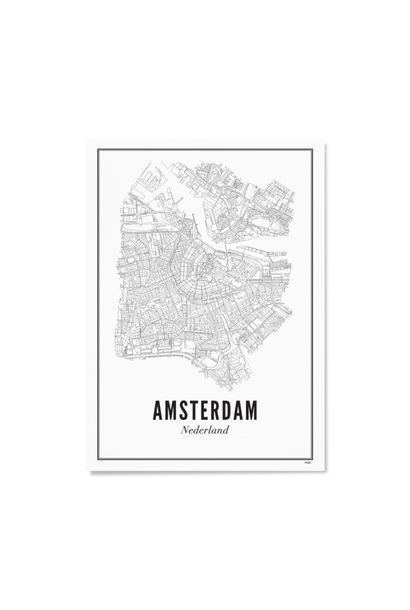 Poster Amsterdam - City Amsterdam - A4 / 21X30cm