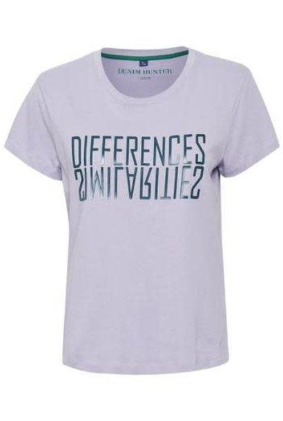 T-shirt DHRio Diff Tee Jersey lavendel