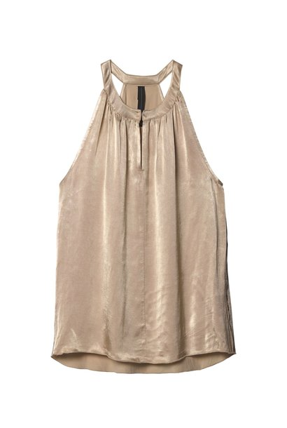 Top strappy top champagne