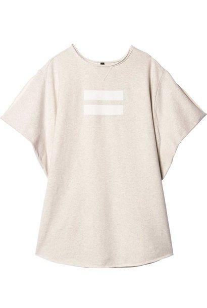 Shirt sporty tunic soft white melee