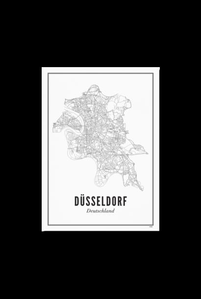 Poster Dusseldorf - City / 21 x 30 cm / Geen extra's /