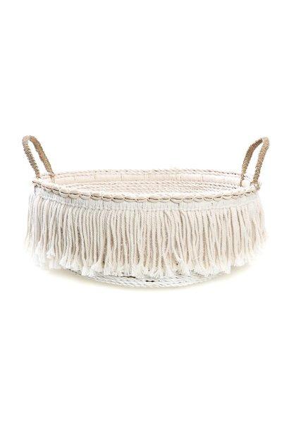 Mand The Boho Fringe Basket White
