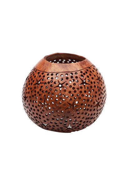 Waxinhouder The Coconut Star Brown