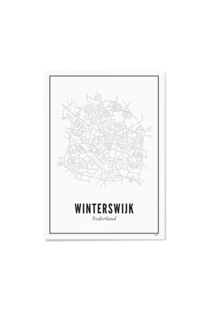 Poster Winterswijk - City /Winterswijk - City / 40 X 50 c