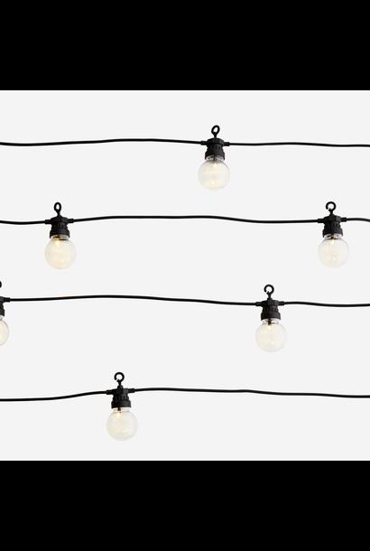 Lampjes Outdoor string lights 8,5m Black