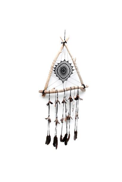 Dromenvanger triangle wood black 40