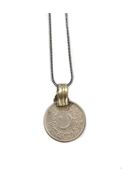 Ketting small coin 40cm Silver