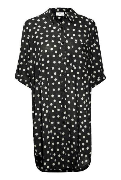 Blouse jurk Bobbie Dot midnight marine