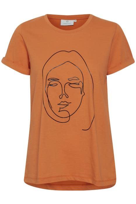 T-shirt Kafie Orange-1