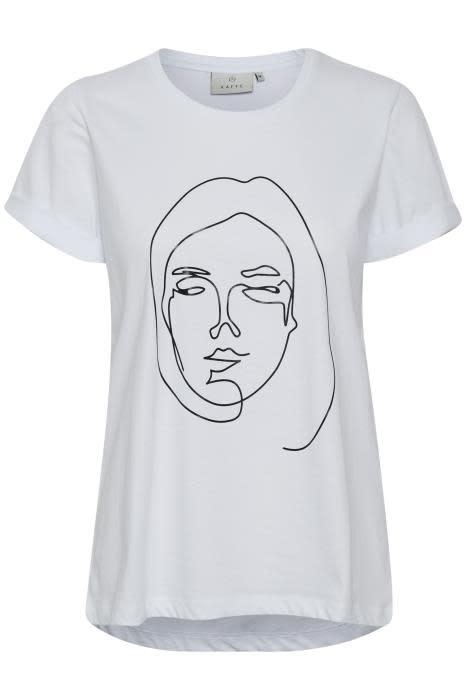 T-shirt Kafie White-1