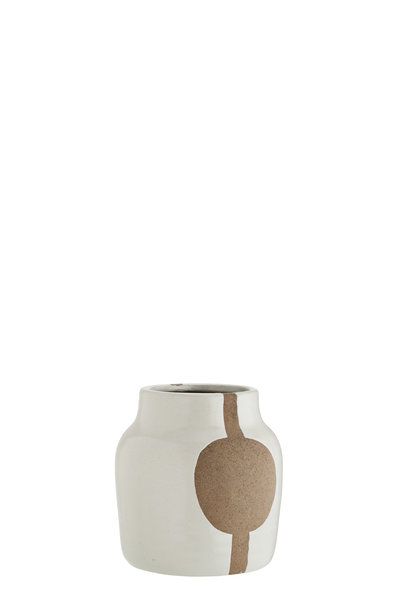 Vaas Stoneware with pattern 15x15,5cm