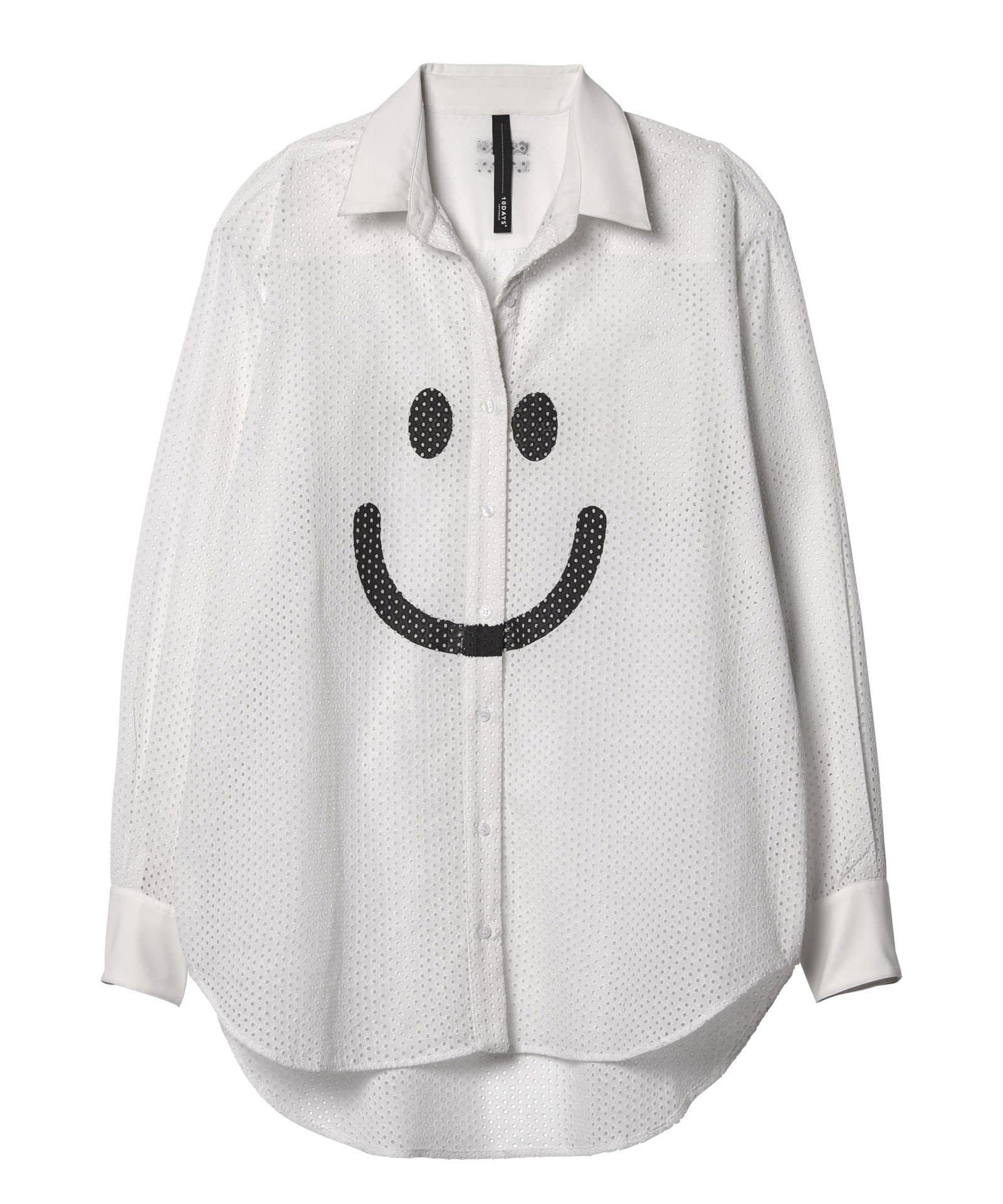 Blouse happy white-1