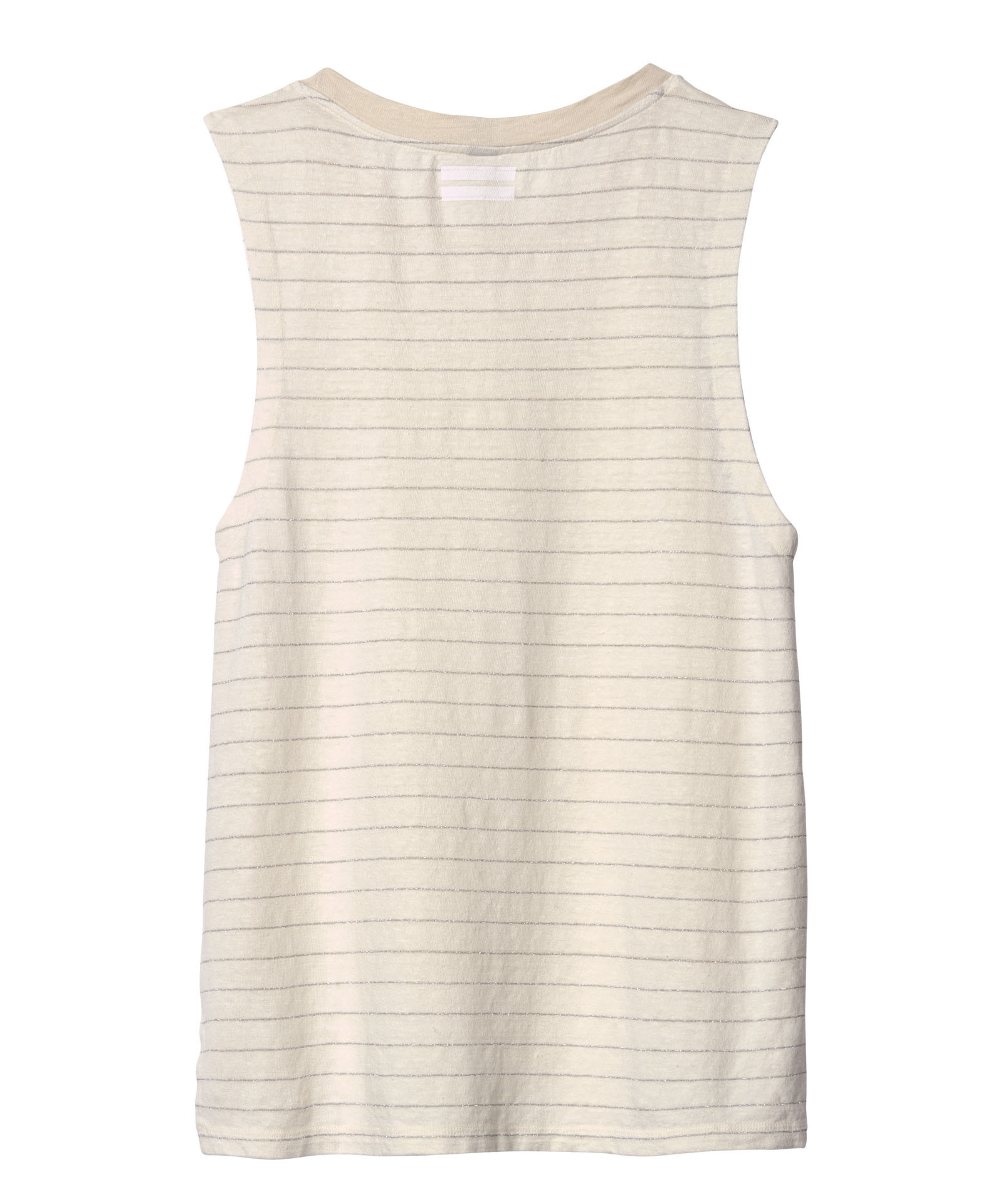 Top sleevelless stripes ecru-2