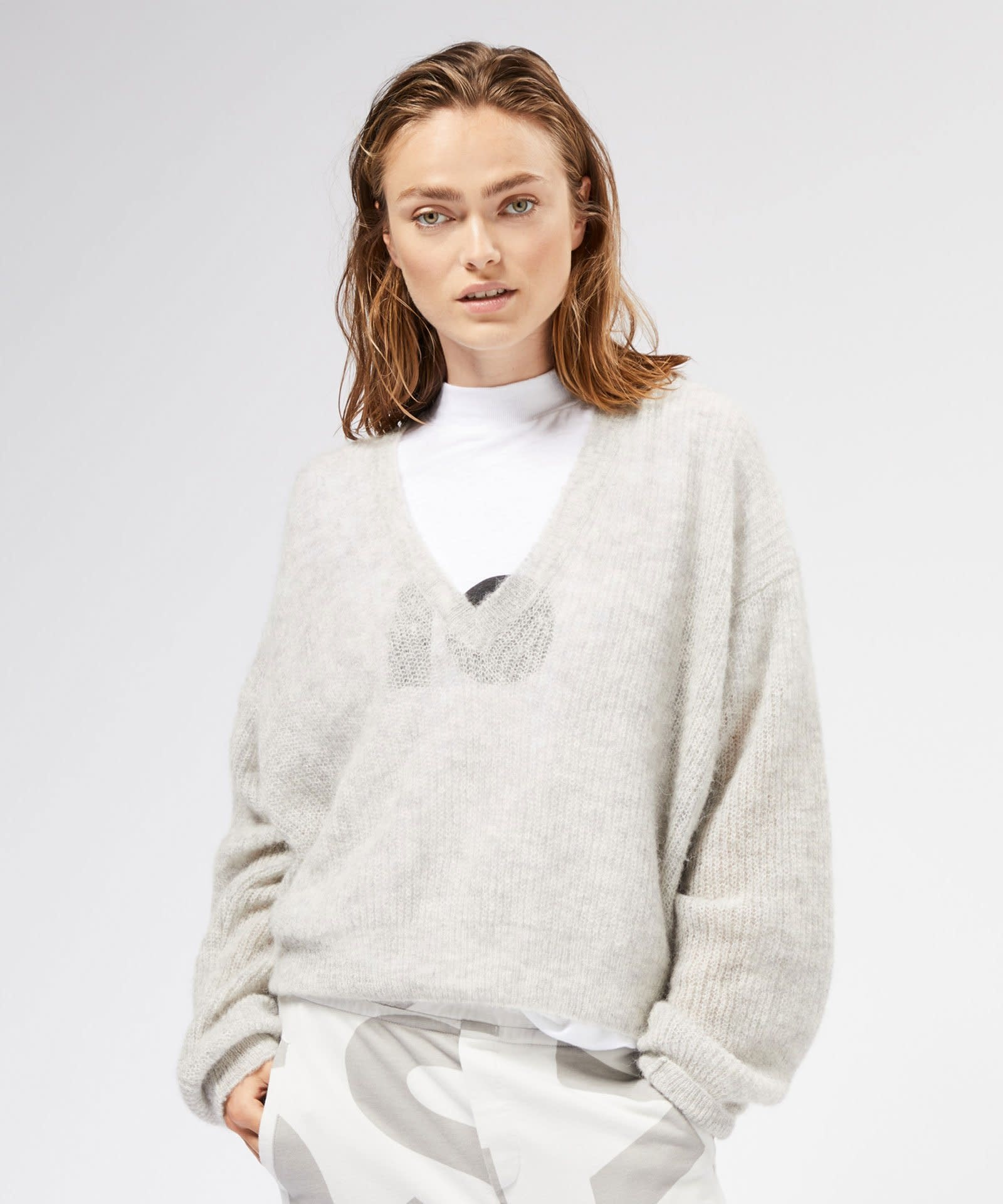 Top turtle neck linen white-2