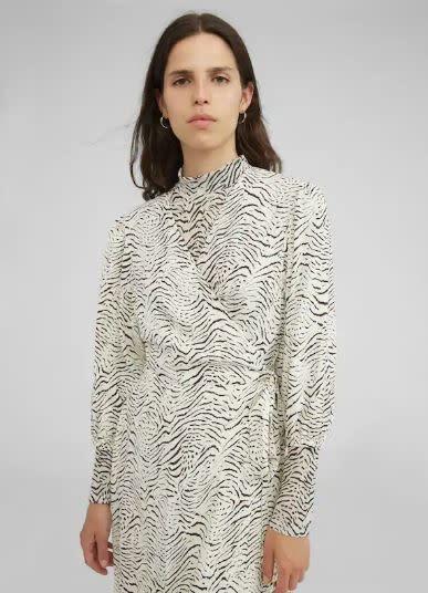 Jurk Alene zwart wit zebra-2