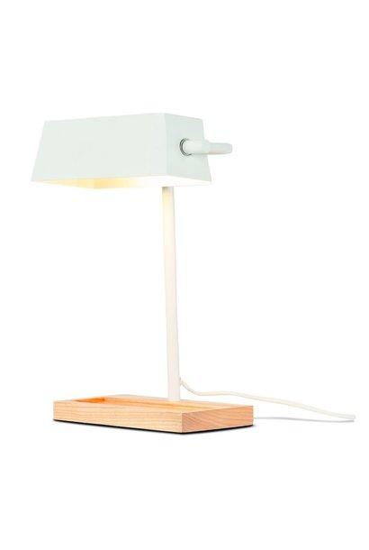 Tafellamp Cambridge ijzer hout wit