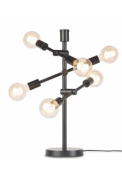Tafellamp Nashville ijzer 3-arm zwart