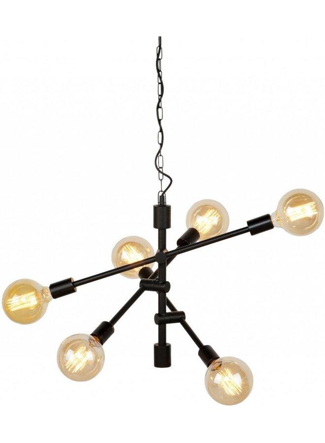 Hanglamp Nashville ijzer 3-arm zwart