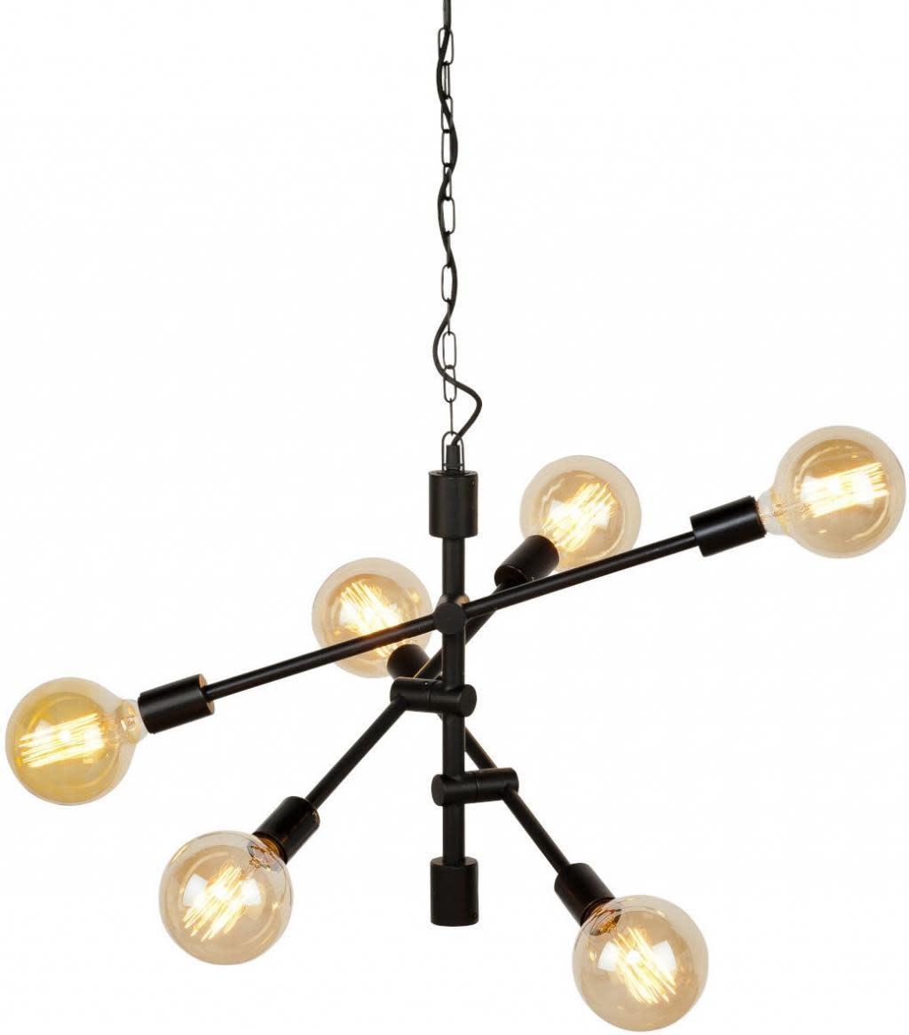 Hanglamp Nashville ijzer 3-arm zwart-1