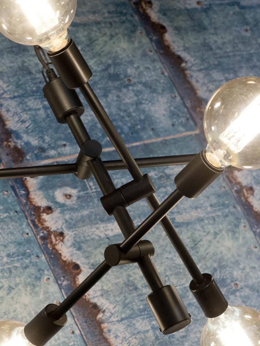 Hanglamp Nashville ijzer 3-arm zwart-3