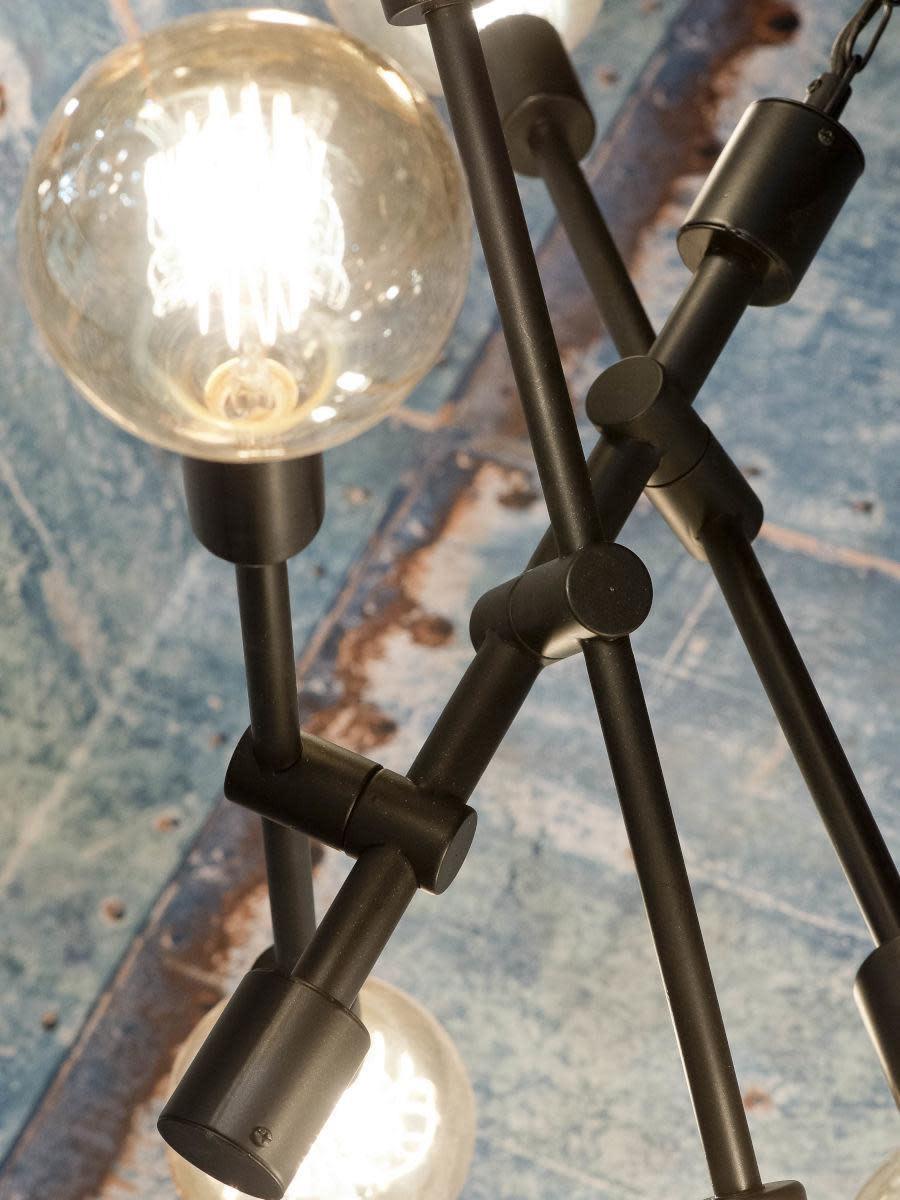 Hanglamp Nashville ijzer 3-arm zwart-2
