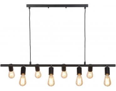 Hanglamp ijzer Miami 8-arm zwart-1