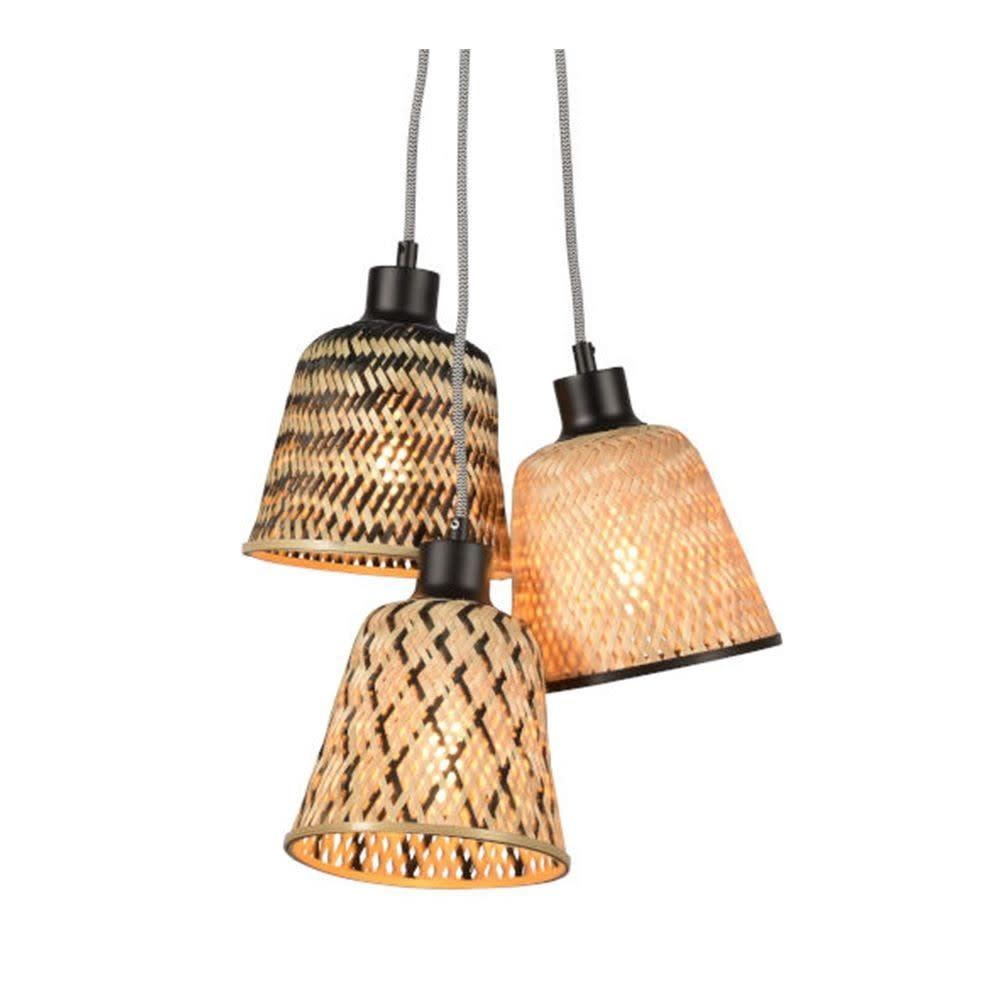Hanglamp Kalimantan bamboo 3 kap (incl pendel)-1