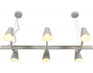 Hanglamp ijzer Biarritz 6-arm wit-1